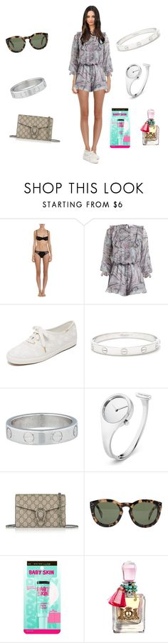 """Untitled #1769"" by rine23 ❤ liked on Polyvore featuring Cosabella, Zimmermann, Kate Spade, Cartier, Georg Jensen, Gucci, CÉLINE, Maybelline and Juicy Couture"