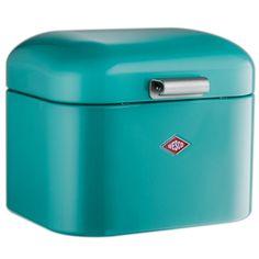 Mooi gevonden op fonQ.nl: turquoise broodtrommel van Wesco #storage