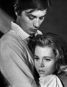 "Alain Delon and Jane Fonda <3 dans ""Les Félins"" - film de René Clément 1964"