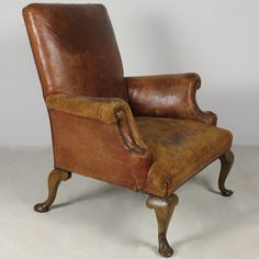 George II Leather Upholstered Armchair