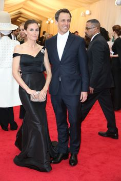 Met Ball Gala Red Carpet Arrivals - 2014 - Dress Code - White Tie & Tails . . . Seth Beyers & Alexi Ashe