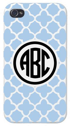 Morocco Monogram Cell Phone Case by GetPersonalGifts on Etsy