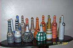 Ecológica Design : construção e decoração ecológica: Garrafas decorativas... um charme ecológico!!!