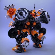 Features: Articulated, with opening light-up cock-pit. Lego Mechs, Lego Bionicle, Robot Lego, Lego Lego, Scrap Mechanics, Lego Machines, Lego Pictures, Frame Arms Girl, Lego Blocks