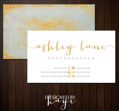 Premade Business Card Set for Photographers and Small Businesses, elegant, pretty, texture via Etsy