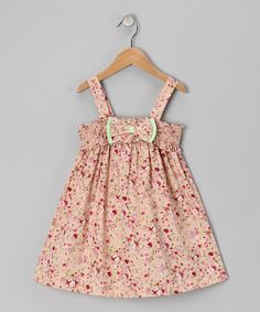 Take a look at this Les Petits Soleils Pink Floral Bow Smocked Dress - Toddler & Girls on zulily today! Cute Girl Outfits, Girly Outfits, Kids Outfits, Toddler Girl Dresses, Toddler Girls, Baby Bloomers, Stylish Kids, Dress With Bow, Girly Girl
