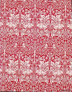 Brother Rabbit :: Morris & Company Designer: Designed by William Morris (British, 1834 - 1896) Date: design registered 1882; printed 1917–23