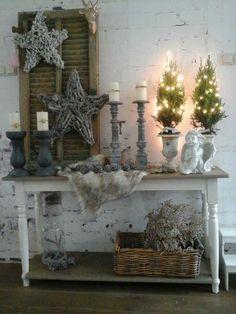 Xmas Decorations, Ladder Decor, Farmhouse, Home Decor, Rustic Christmas, Noel, Decoration Home, Room Decor, Home Interior Design