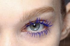 blue lashes, I should do this more often