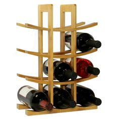 Oceanstar Natural Bamboo Wine Rack Made With Eco Friendly Bamboo, The Bamboo  Wine Rack From Oceanstar Design Collection Is The Ideal Fit For Wine ...