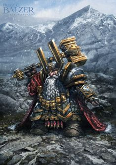 The Dwarves - Giselbart Eisenauge by helgecbalzer dwarf king hammer mountains armor clothes clothing fashion player character npc   Create your own roleplaying game material w/ RPG Bard: www.rpgbard.com   Writing inspiration for Dungeons and Dragons DND D&D Pathfinder PFRPG Warhammer 40k Star Wars Shadowrun Call of Cthulhu Lord of the Rings LoTR + d20 fantasy science fiction scifi horror design   Not Trusty Sword art: click artwork for source