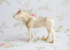 Little off White Horse  Vintage Toy Horse by Meanglean on Etsy, $7.50