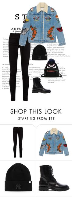 """""""Untitled #1211"""" by marjanne-mestilainen ❤ liked on Polyvore featuring Gucci, Ann Demeulemeester and Fendi"""