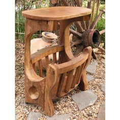 Have to have it. GroovyStuff Rustic Magazine Rack