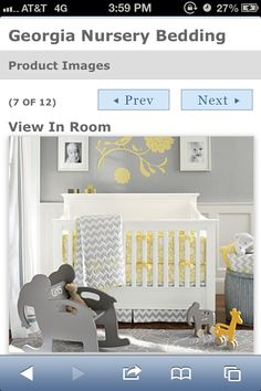 Pottery barn grey and yellow