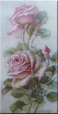 upright loose pink roses by Christie Repasy