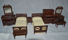 Mom's Renwal doll furniture from the 40s.