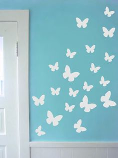 Set Of 34 Butterfly Decal In Varying Sizes   Butterfly Wall Decals  Butterfly Nursery Wall Decal Sticker Part 69