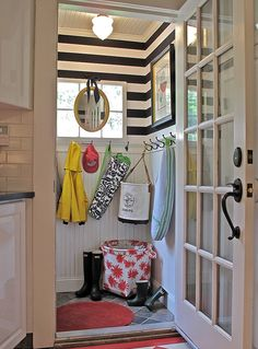 striped mud room