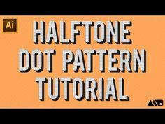 Adobe Illustrator Halftone Dot Pattern Tutorial - YouTube