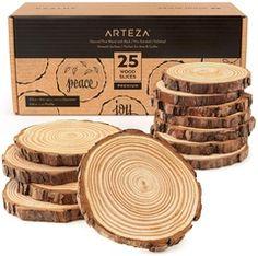 Medium Wood Slices - Set of 25 Outdoor Acrylic Paint, Acrylic Paint Set, Wood Burning Tool, Wood Circles, Just Shop, Thing 1, Wood Slices, Brush Pen, Art Brush