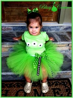 Toy Story Themed Green Alien Birthday Tutu Set or by BlissyCouture