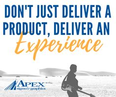 Sell your message, sell your brand. #apexsigns #experience #branding.