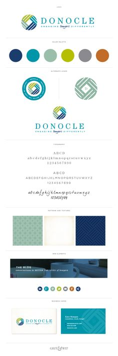 Brand Reveal // Donocle // Conversations to Better the Lives of Lawyers #branding #lawyer