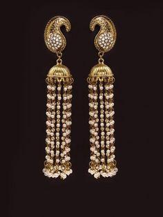 Paisley Pearl Jhumki Earrings