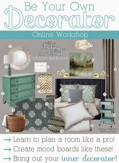 Be Your Own Decorator E-Course - learn how to create decor budgets, mood boards and decorate your home like a professional! Decorating On A Budget, Interior Decorating, Decorating Websites, Interior Design Courses, Home Repairs, Interior Exterior, Interior Doors, Home Staging, Home Projects