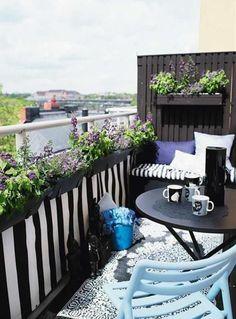 Der Balkon - balkon dekorieren als unser kleines Wohnzimmer im Sommer