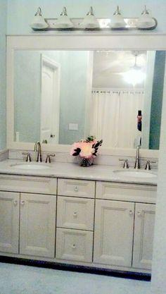 Bathroom vanity light gray