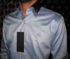 Angelo Galasso Blue (Double Collar) Smart Casual Shirt