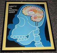 2007 The Simpsons What's on Homer Simpson 's Mind Framed 10x13 Poster Photo