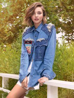 A modelo australiana Miranda Kerr é a cover girl da revista Elle Brasil de Julho. Seu cabelo curto é tendência entre as celebridades e inspira modernidade.