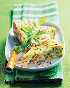 Tortilla de verduras a la menta #recipes #cuisine