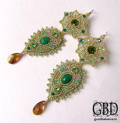 Beaded earring. Guzel Bakeeva My Dreams - Махарани