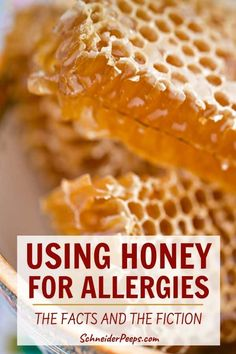 Using Honey for Allergies - breaking down the evidence Natural Allergy Relief, Natural Remedies For Allergies, Allergy Remedies, Herbal Remedies, Local Honey For Allergies, Seasonal Allergies, Honey Uses, Raw Honey, Allergy Shots