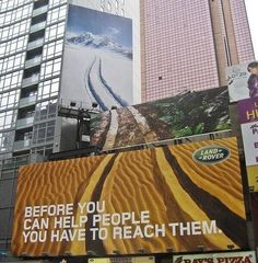 Las vallas publicitarias son una oportunidad para demostrar tu creatividad.