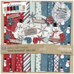 Quality DigiScrap Freebies: First Snowfall mini kit freebie from Wishing Well Creations