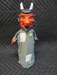 Vintage Devil Hand Puppet.
