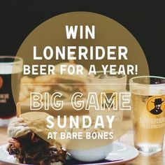 What. @barebonesdtr for #superbowl with great food and chance to win free beer for a year! See you there.