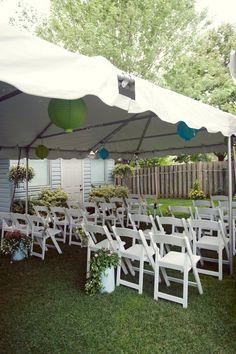 backyard wedding garden ceremony DIY Backyard Wedding by Patti Miller Photography