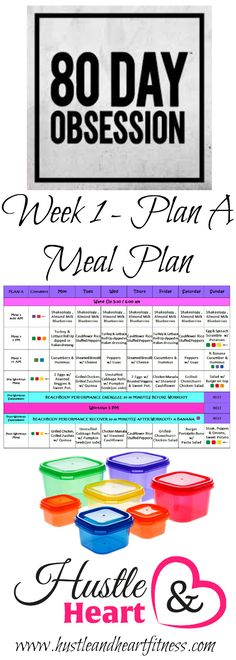 80 Day Obsession Week One Meal Plan
