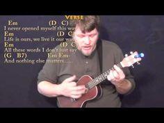 Nothing Else Matters (Metallica) Ukulele Cover Lesson with Chords/Lyrics - YouTube