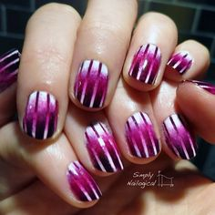Magenta reciprocal gradient #nailart #mani #nails