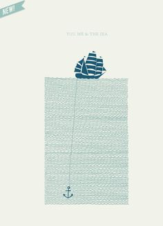 you, me and the sea - essie letterpress