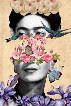 Collage Kunst, Mode Collage, Paper Collage Art, Surreal Collage, Collage Artwork, Painting Collage, Surreal Art, Collages, Frida Kahlo Artwork