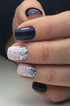 Best Winter Nails for 2017 - 67 Trending Winter Nail Designs - Best Nail Art - Gel Nails Winter Nail Designs, Winter Nail Art, Colorful Nail Designs, Cute Nail Designs, Acrylic Nail Designs, Winter Nails, Acrylic Nails, Nail Ideas For Winter, Nail Designs Easy Diy