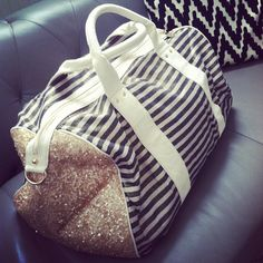 theglitterguide::We're ready for a weekend getaway with our new @deuxluxbags bag!